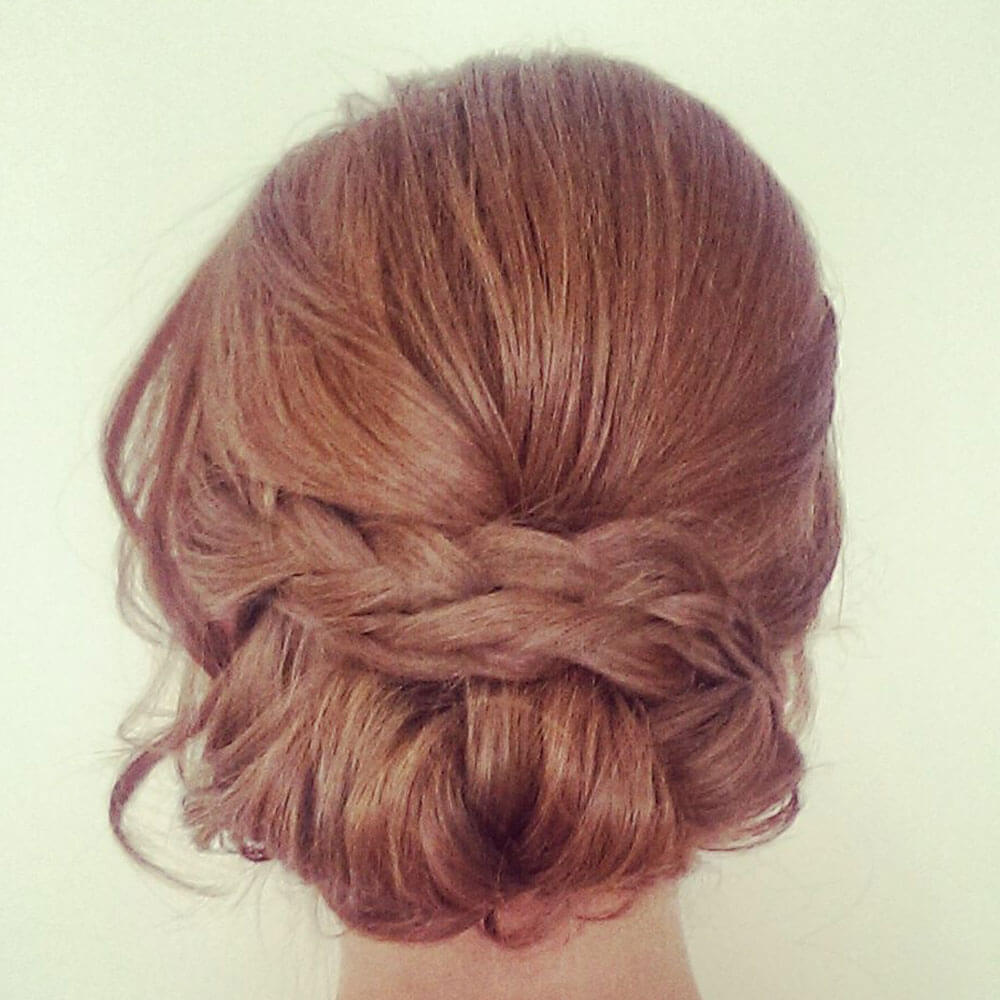wedding hair plait