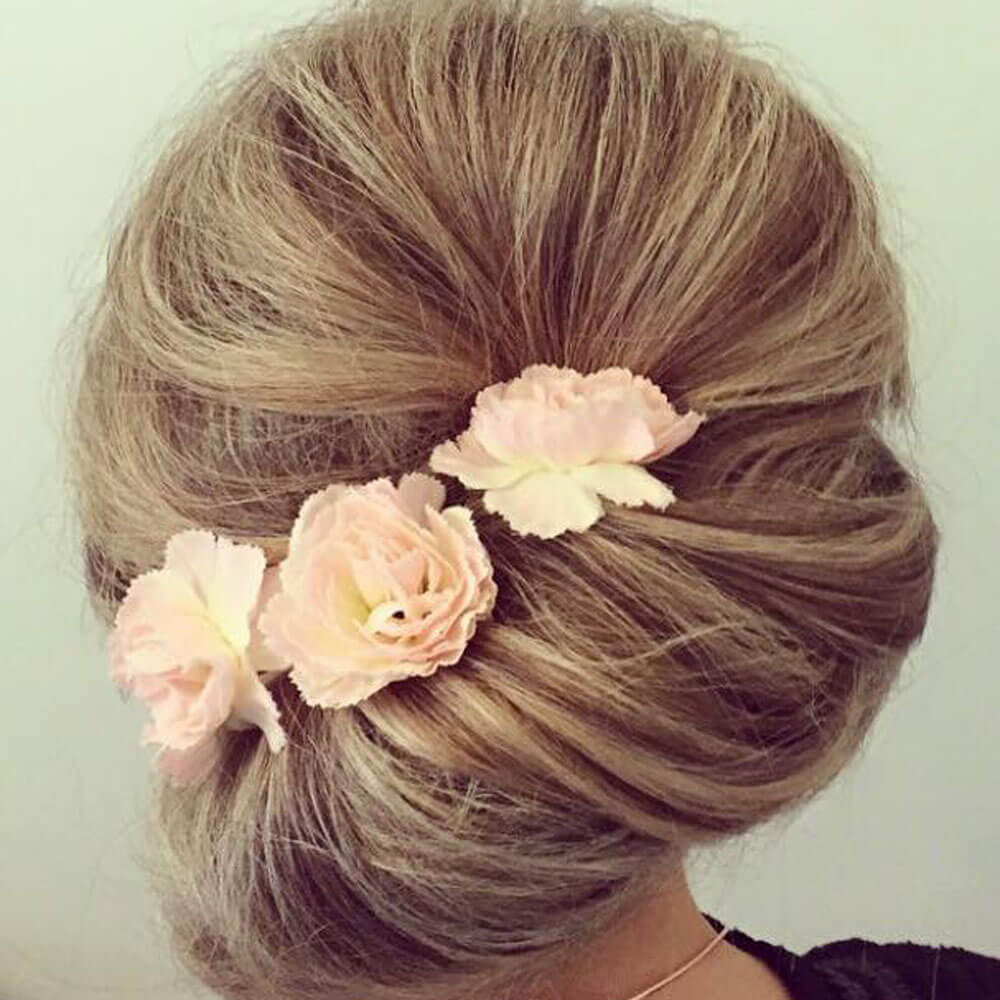 wedding day chignon
