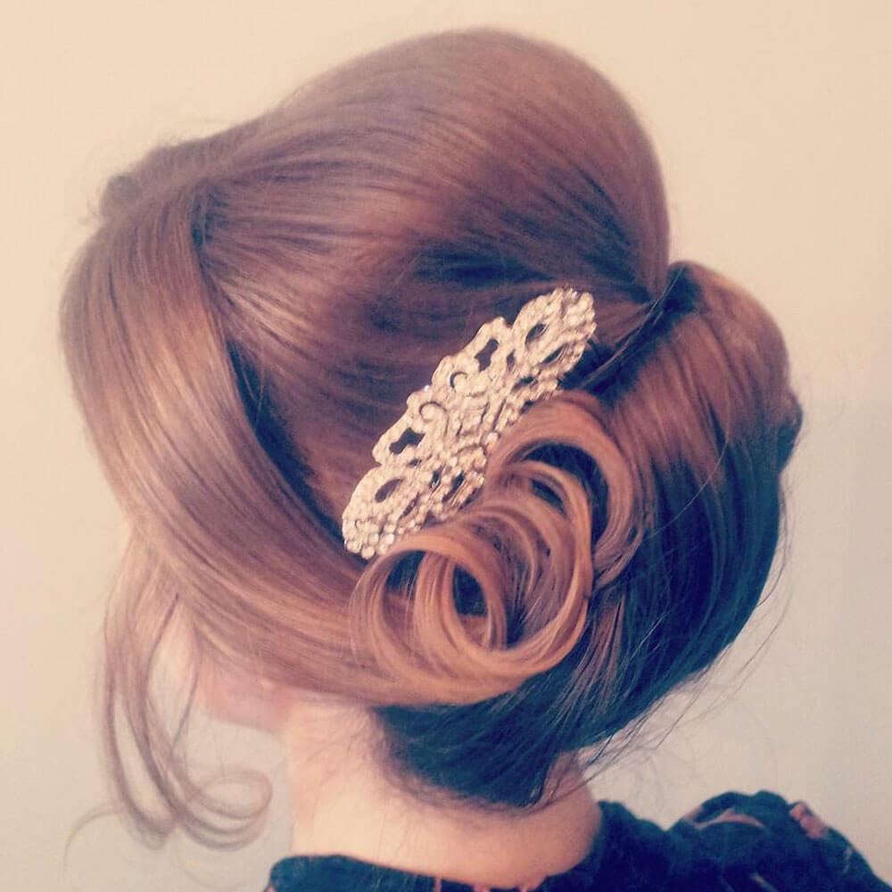 vintage bridal hair