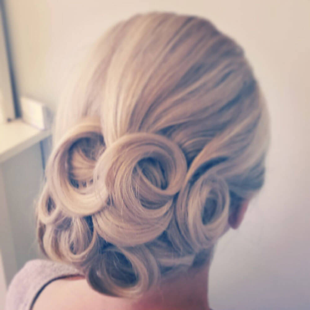classic wedding day hair