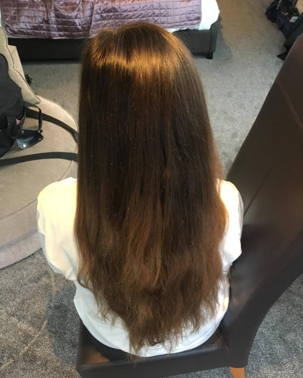 Bride's Hair – Before
